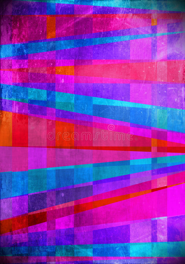 Голубой и розовый конспект искусства кроет предпосылку черепицей иллюстрация вектора