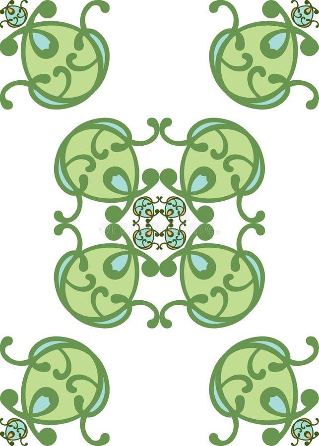 голубой классицистический зеленый цвет конструкции иллюстрация вектора
