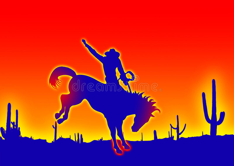 голубой ковбой иллюстрация вектора