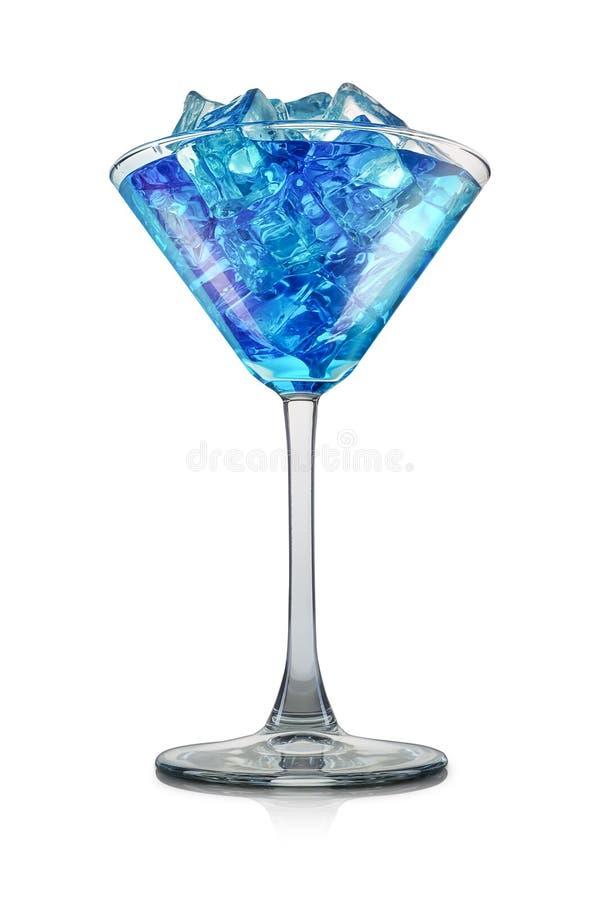 Голубой коктеиль curacao изолированный на белой предпосылке стоковые фотографии rf