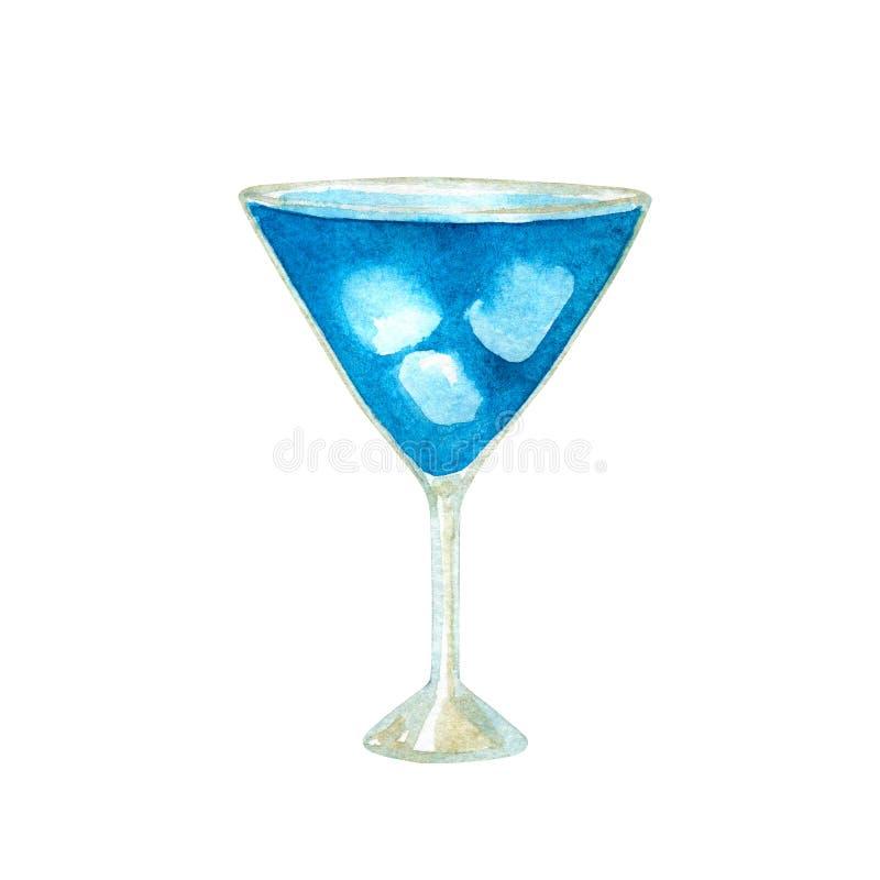 Голубой коктейль лагуны с curacao и льдом r r стоковое изображение rf