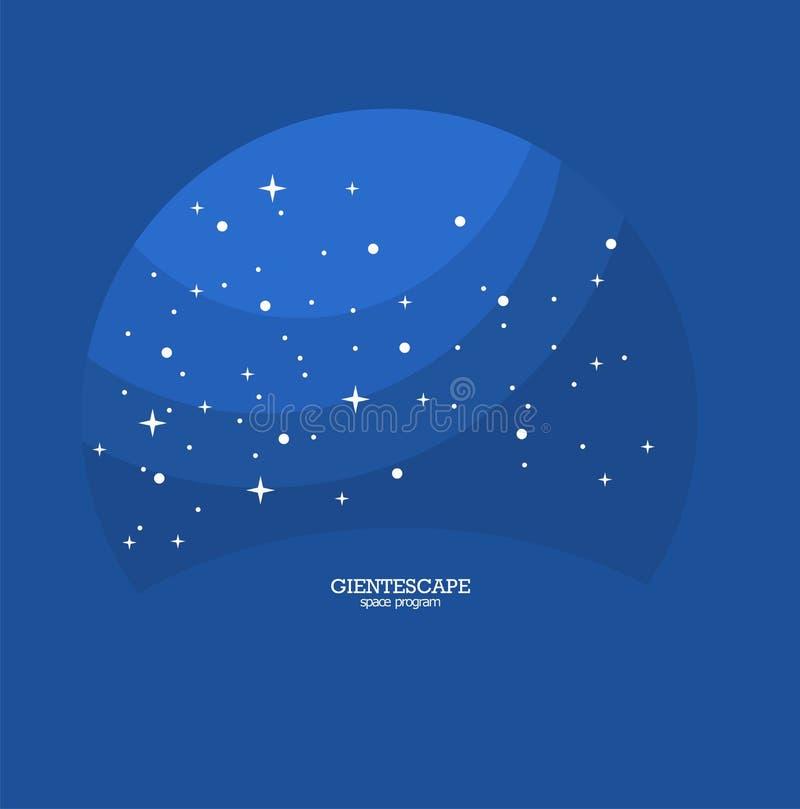 голубой космос бесплатная иллюстрация