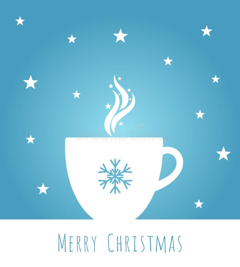 Голубой кофе рождества бесплатная иллюстрация