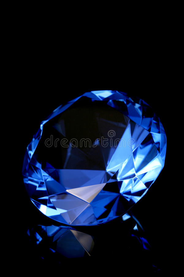 голубой кристалл стоковые изображения