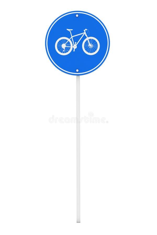 Голубой круглый знак майны велосипеда перевод 3d иллюстрация вектора