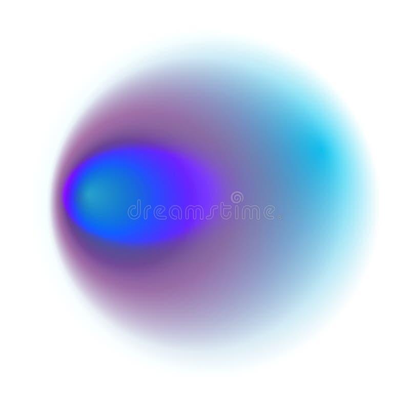 Голубой круг градиента изолированный на белой предпосылке Фиолетовое blurre бесплатная иллюстрация