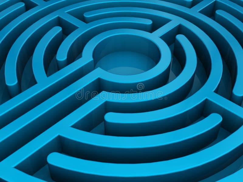 голубой лабиринт иллюстрация штока