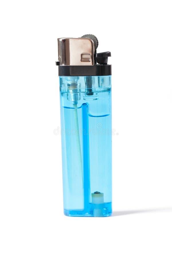 голубой лихтер стоковое изображение rf