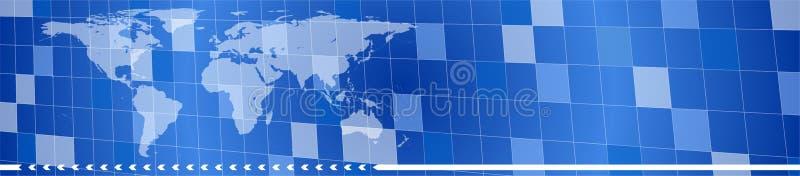 голубой логистический логос иллюстрация штока