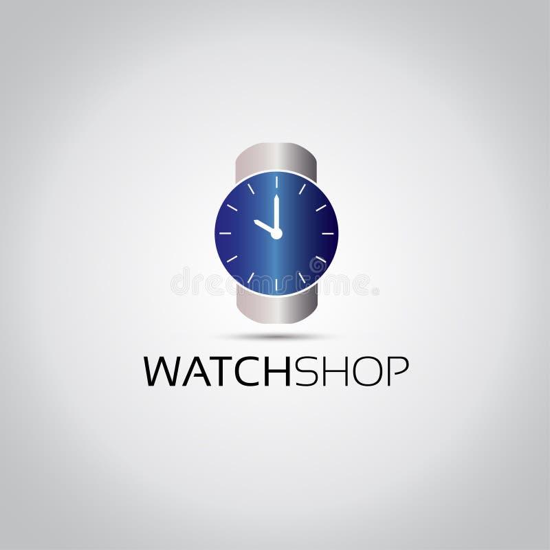 Голубой логотип вектора дозора бесплатная иллюстрация