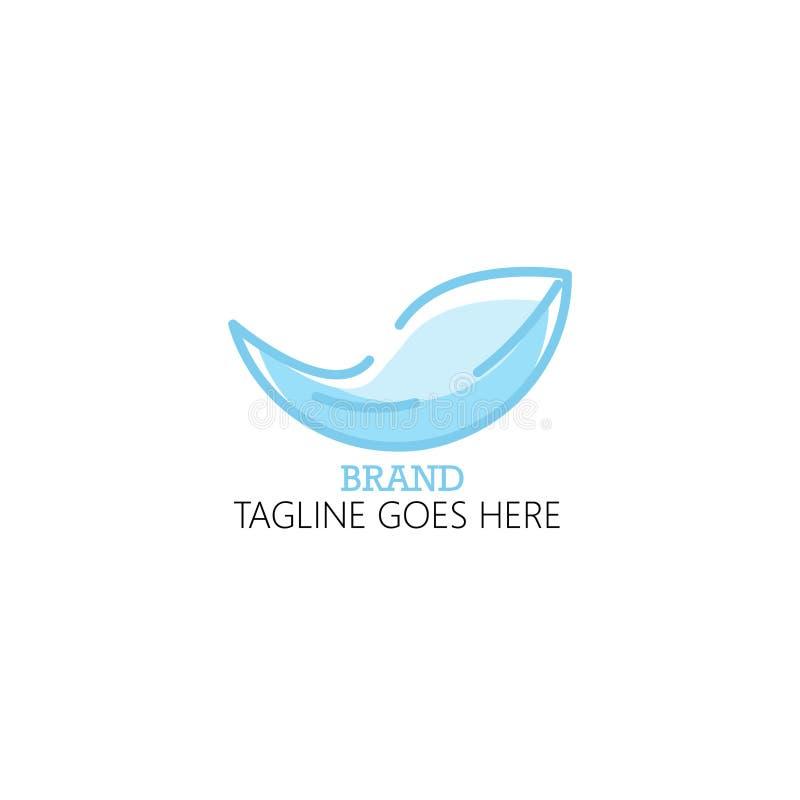 Голубой логотип лист прост и привлекателен иллюстрация штока