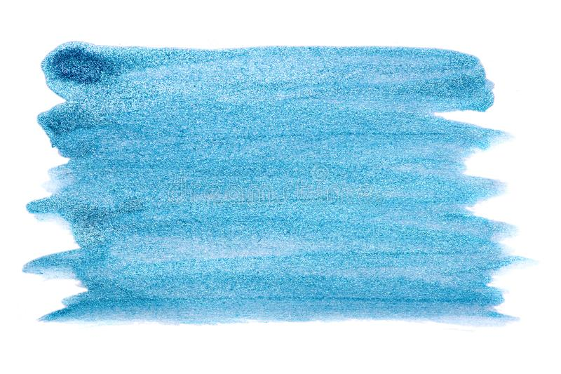 Голубой металлический ход на белизне Яркая роскошная предпосылка стоковые изображения rf