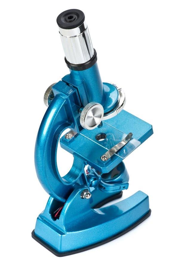 голубой микроскоп стоковое изображение