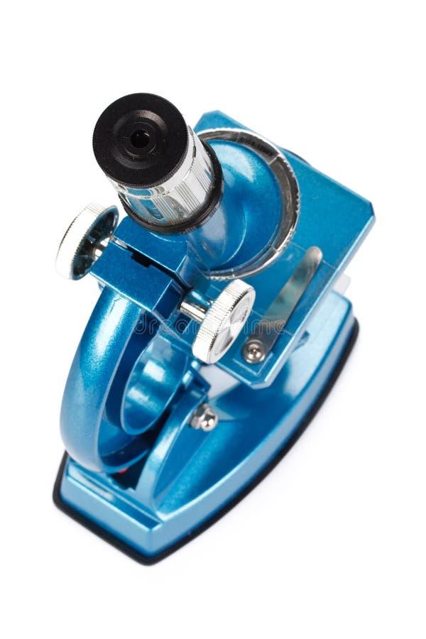 голубой микроскоп стоковая фотография