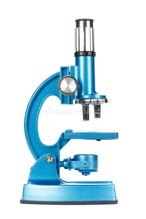 голубой микроскоп стоковые фотографии rf