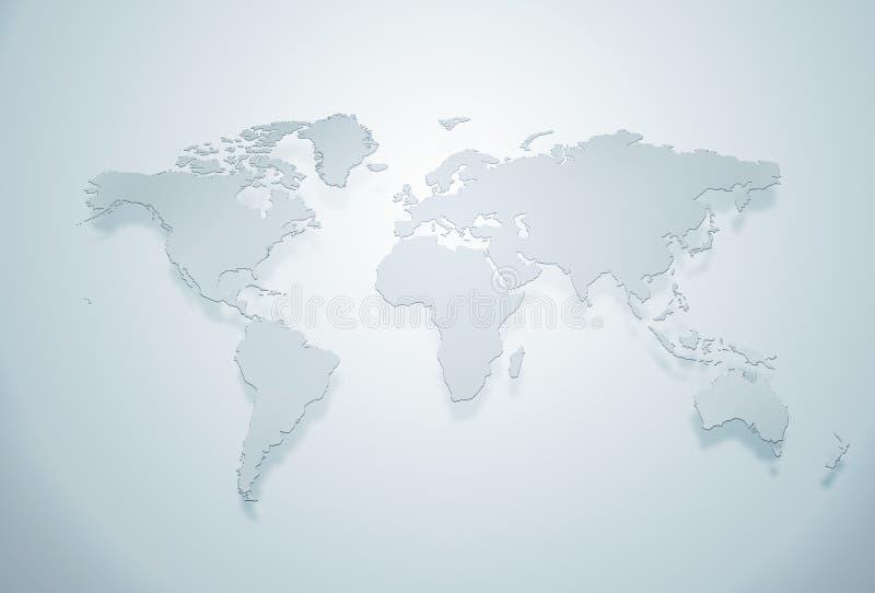 голубой мир силуэта карты бесплатная иллюстрация
