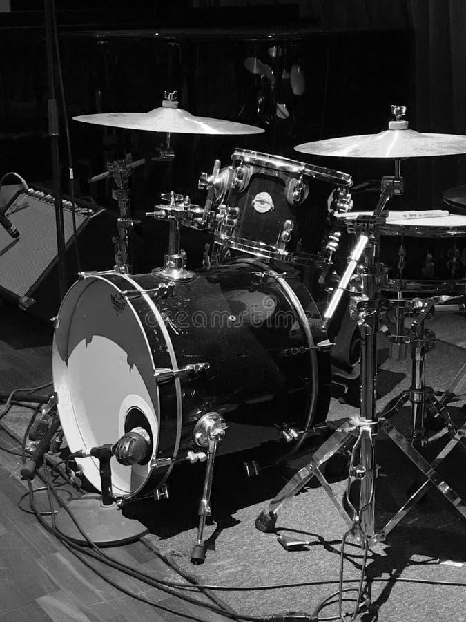 голубой набор барабанчика стоковые изображения rf