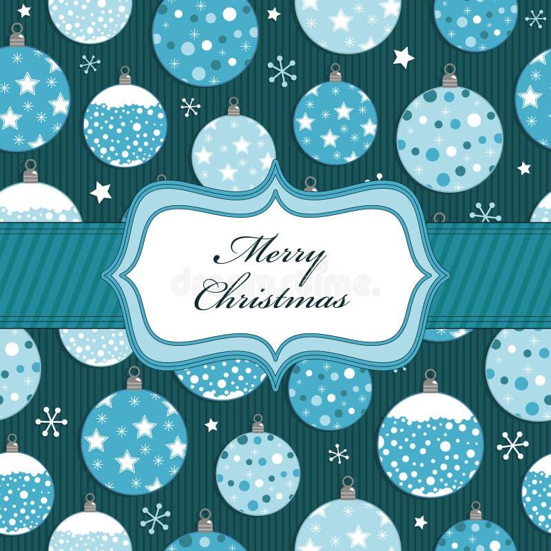 Голубой оборачивать рождества иллюстрация вектора