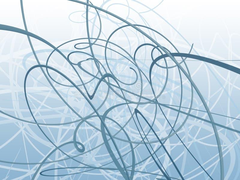 голубой органический орнамент иллюстрация штока