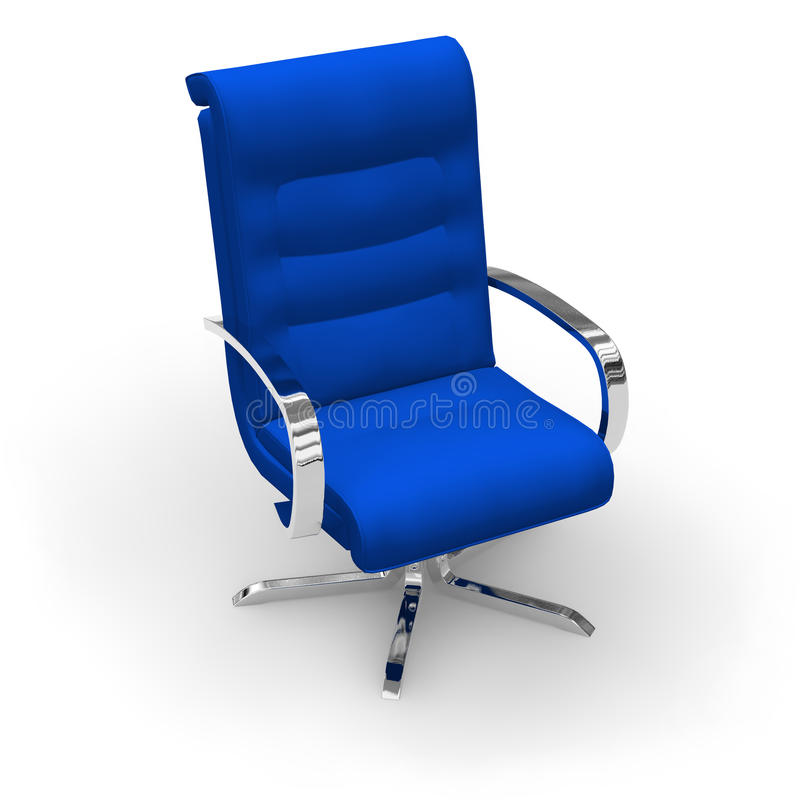 голубой офис стула стильный иллюстрация вектора