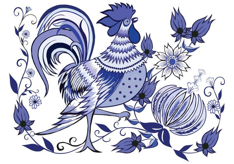 голубой петух стоковое фото rf