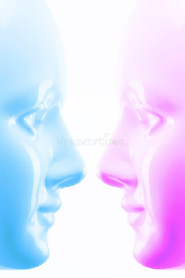 голубой пинк маски иллюстрация вектора
