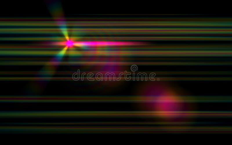 Голубой пирофакел объектива числа с ярким светом в черноте иллюстрация штока