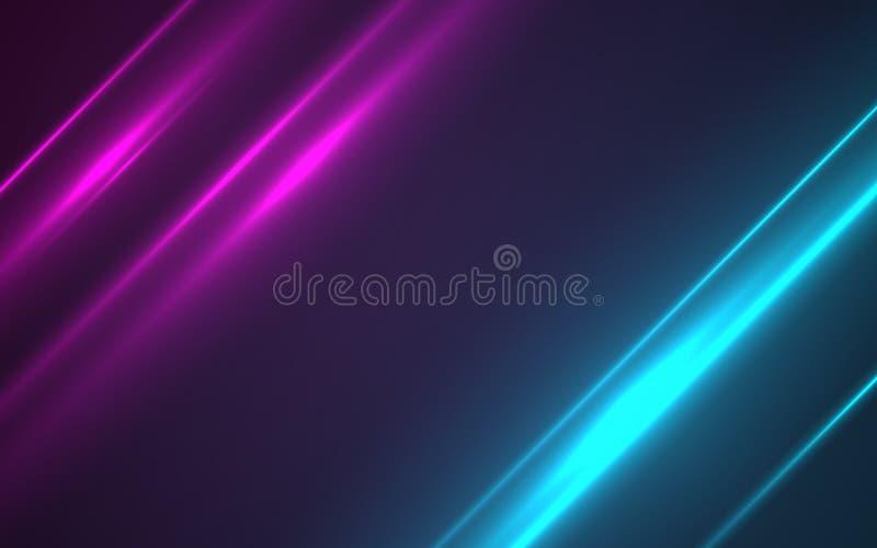 Голубой пирофакел объектива числа с ярким светом в черноте иллюстрация вектора