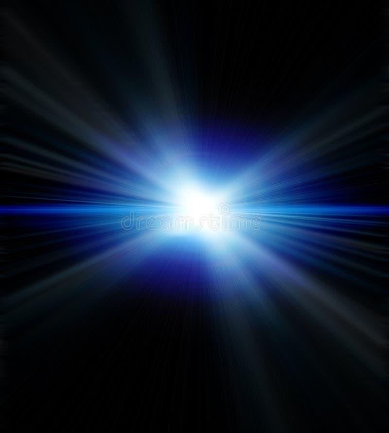голубой пирофакел иллюстрация штока