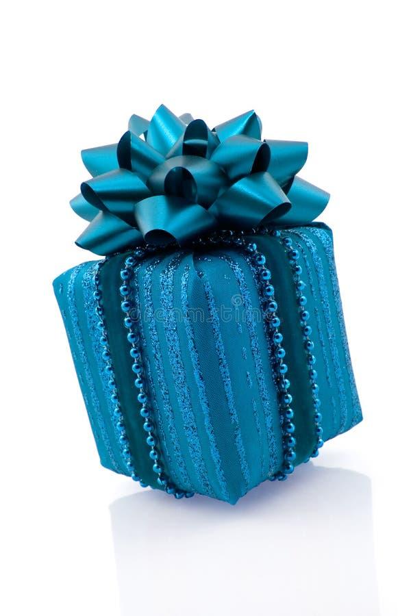 голубой подарок стоковое изображение