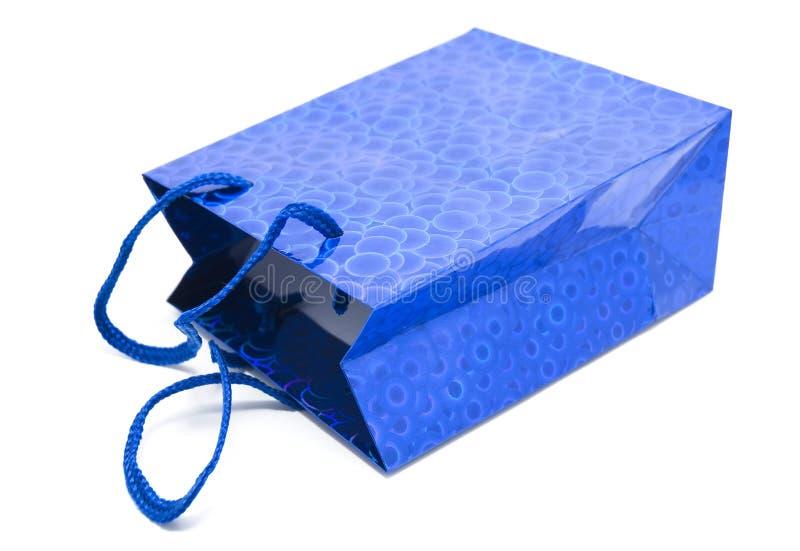 голубой подарок стоковое изображение rf