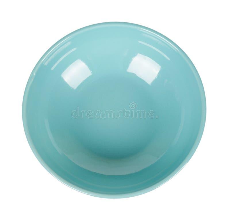 Голубой пустой керамический шар изолированный на белой предпосылке стоковые фотографии rf
