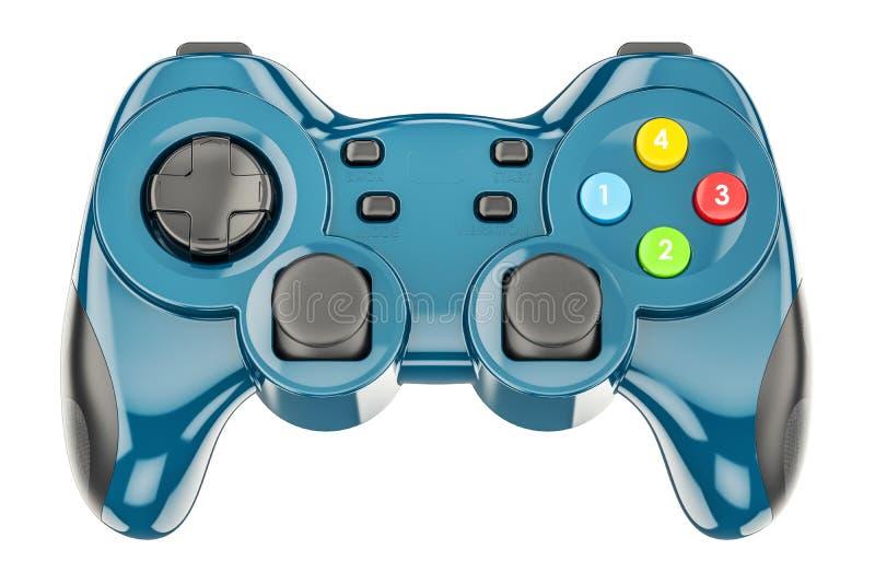 Голубой регулятор игры, перевод 3D иллюстрация штока