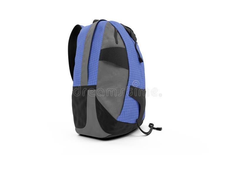 голубой рюкзак иллюстрация вектора