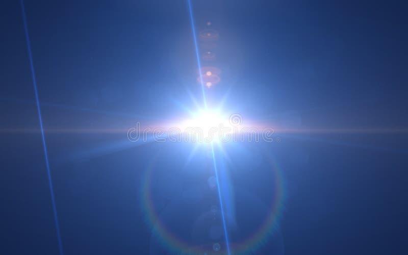 Голубой светлый светить от предпосылки темноты иллюстрация штока