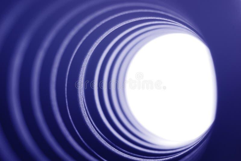 голубой светлый тоннель стоковое изображение rf