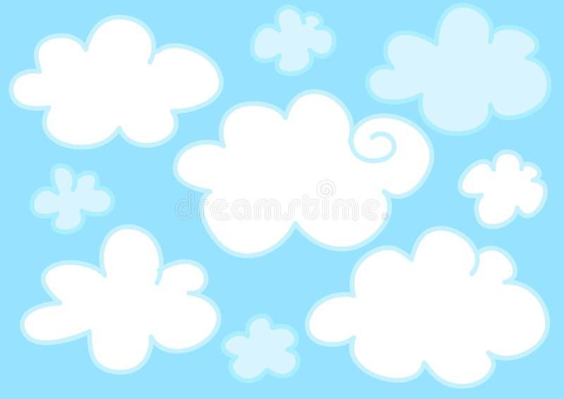 голубой свет облаков иллюстрация вектора