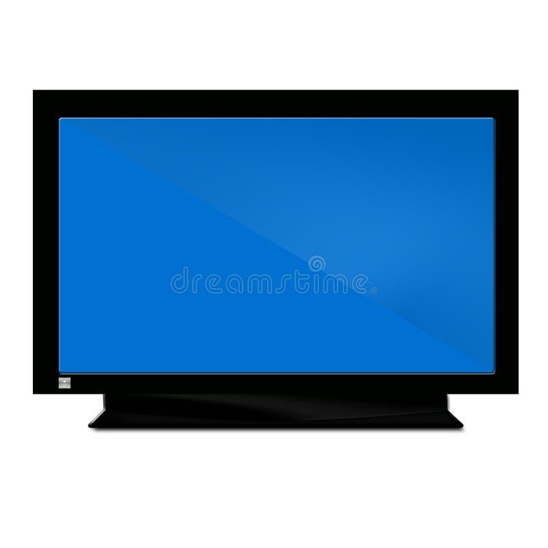 голубой свет tv иллюстрация вектора
