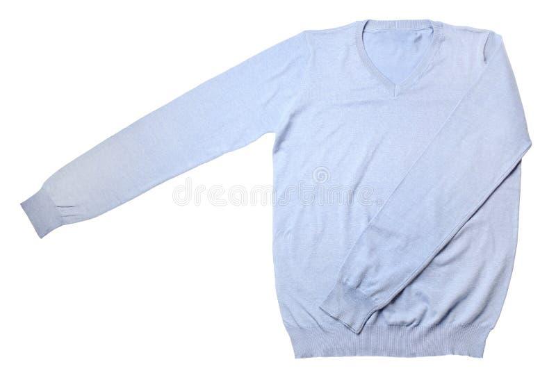 голубой свитер стоковая фотография rf
