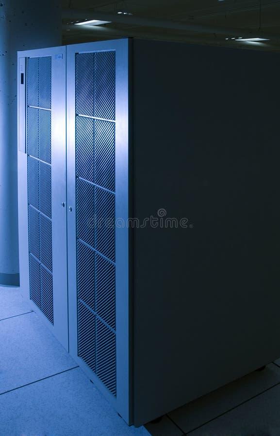 голубой сервер света случая стоковое изображение rf