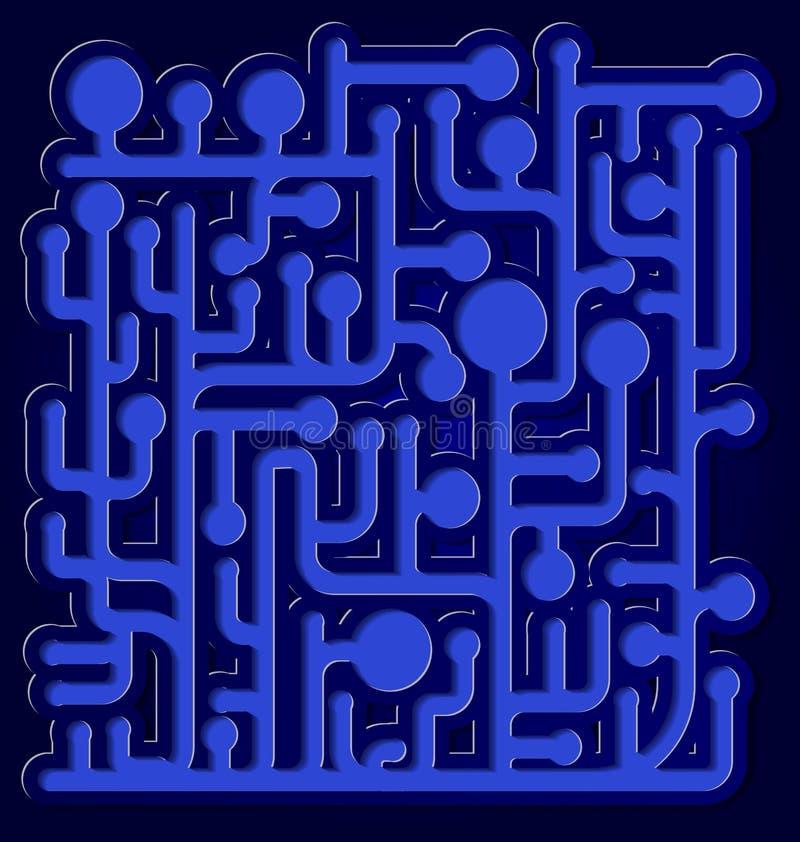 Голубой сетчатый вектор конспекта 3d иллюстрация вектора