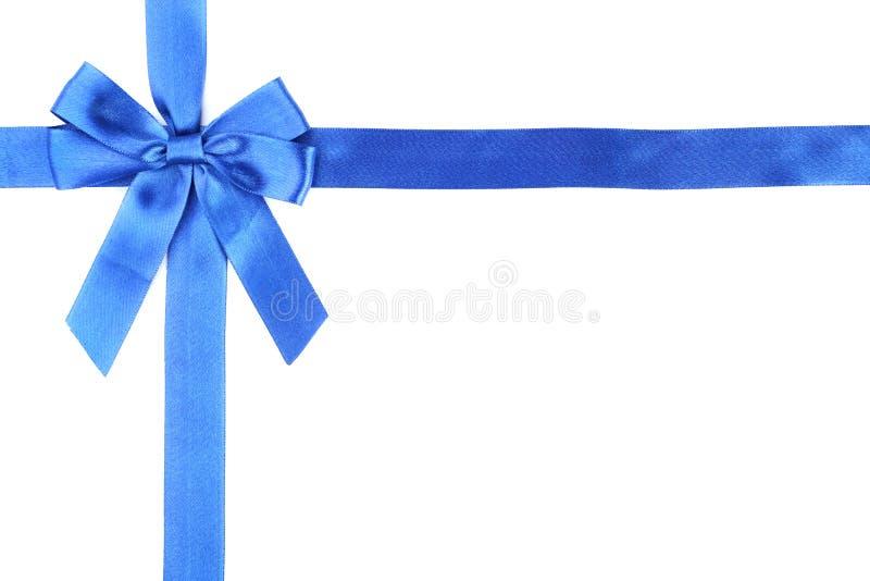 Голубой смычок с лентой стоковые изображения rf