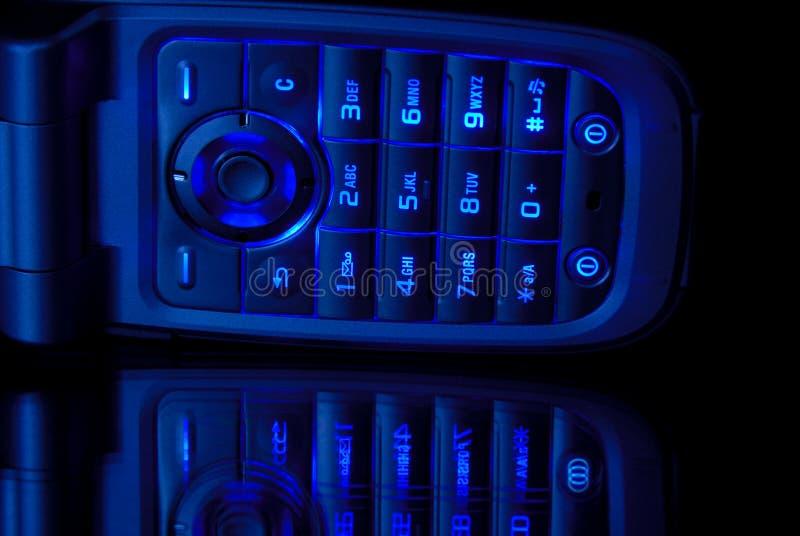 голубой сотовый телефон стоковые изображения