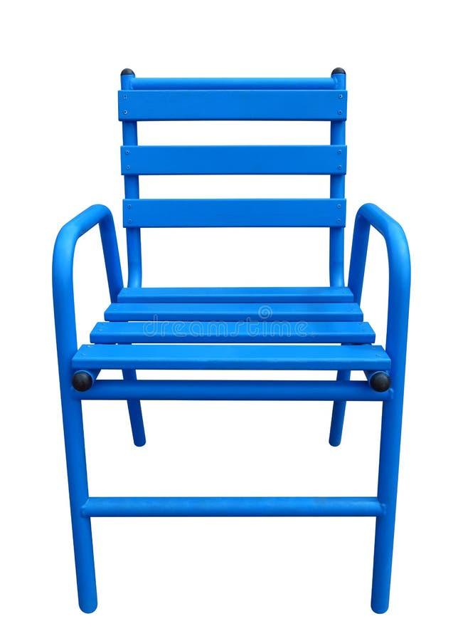 Голубой стул Канн стоковые изображения