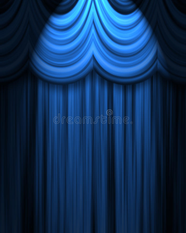 голубой театр занавеса бесплатная иллюстрация