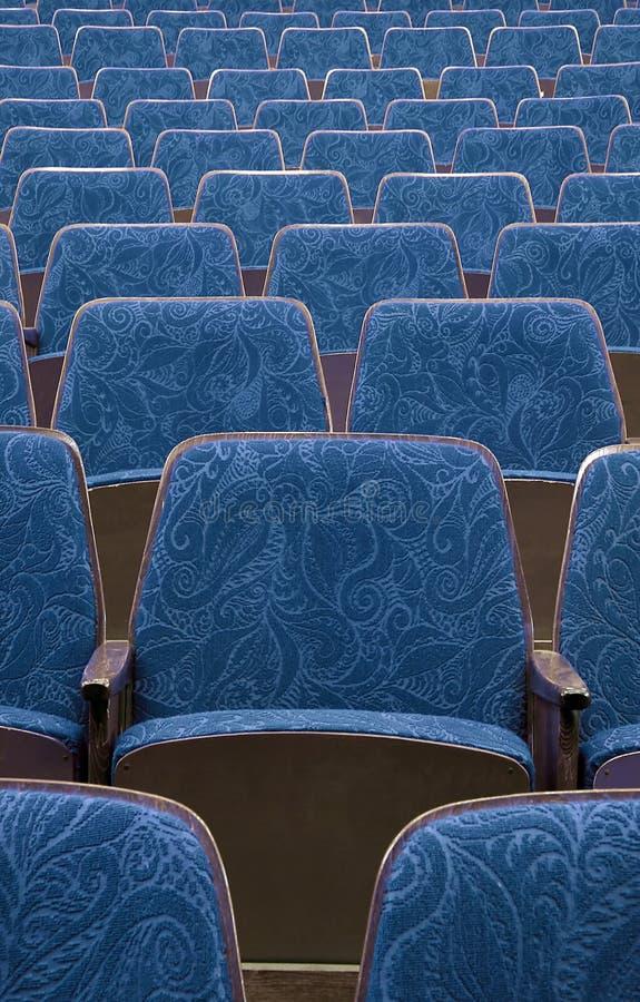 голубой театр стоковые фотографии rf