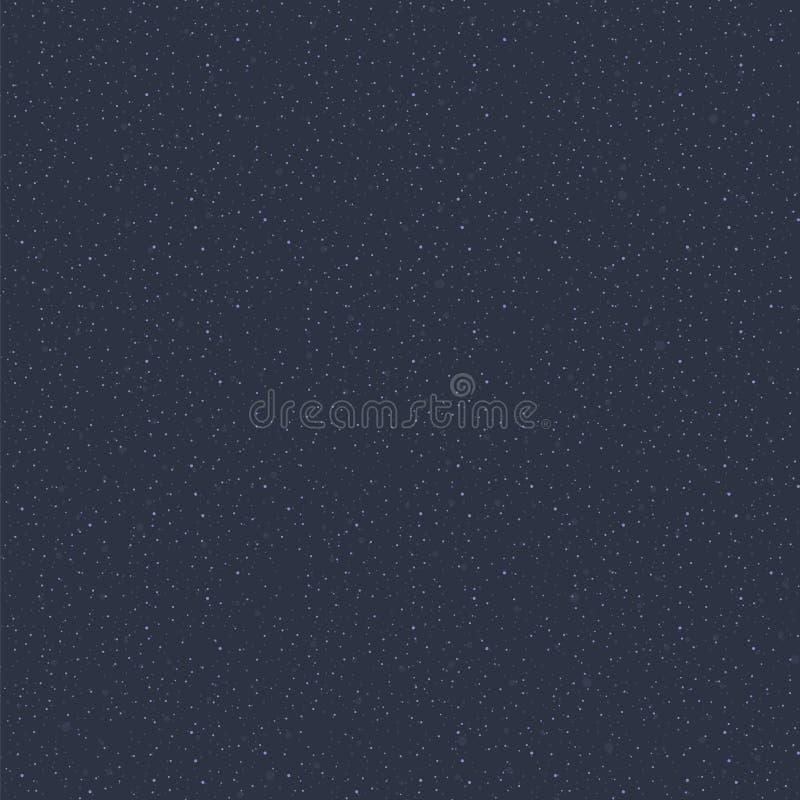 Голубой темный космос с светом - картиной вектора голубой малой предпосылки науки астрономии звезды очень много звезд простой без иллюстрация вектора