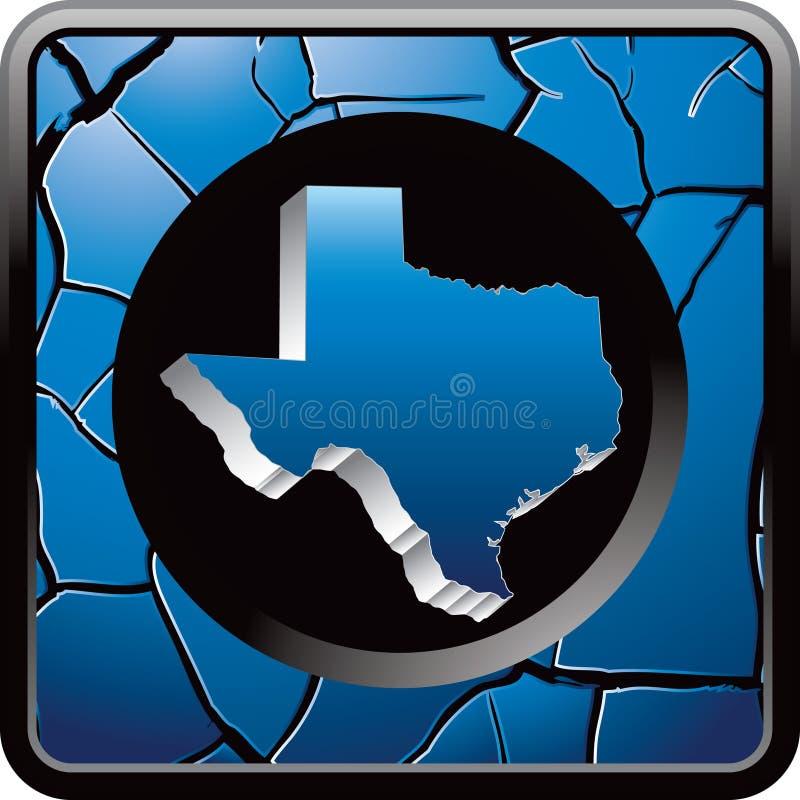 голубой треснутая кнопкой сеть texas иконы иллюстрация вектора