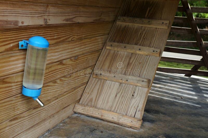 Голубой фидер воды бутылок дома животного стоковые фото