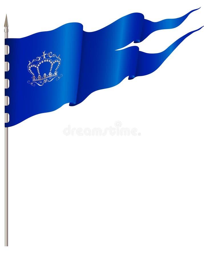 голубой флаг иллюстрация штока